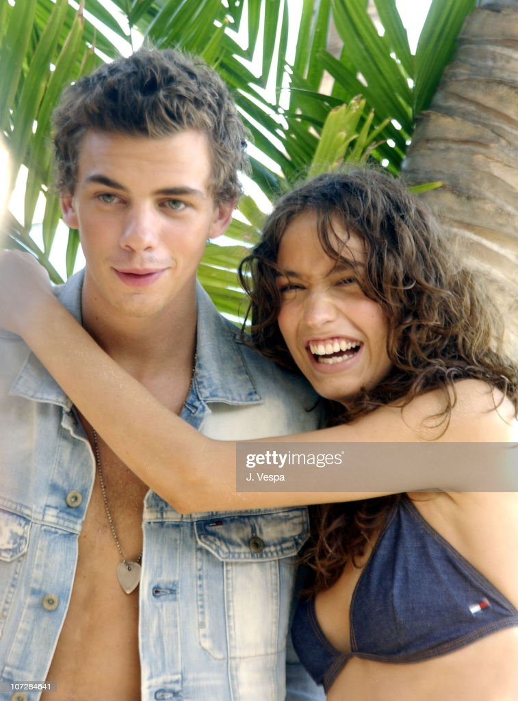 Jake Sumner and Lizzy Jagger during Tommy Jeans Photo Shoot in Mustique in Mustique, Bahamas.