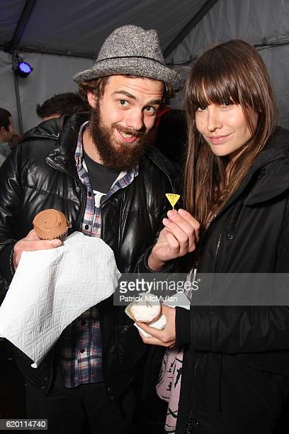 Jake Sumner and Lucy Cooper attend Justin Theroux and Douglas Little Present Sometimes Comes Mother Sometimes Comes Wolf at Adidas Originals Shoe Box...