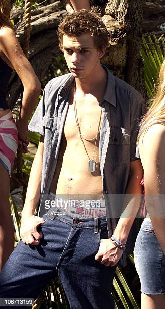 Jake Sumner during Tommy Jeans Photo Shoot in Mustique in Mustique, Bahamas.