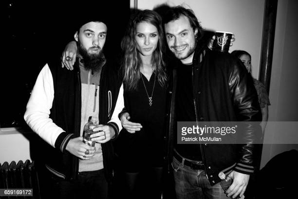 Jake Sumner Erin Wasson and Pietro Quaglia attend ERIN WASSON RVCA Fall 2009 Presentation and Party at Milk Studios on February 18 2009 in New York...