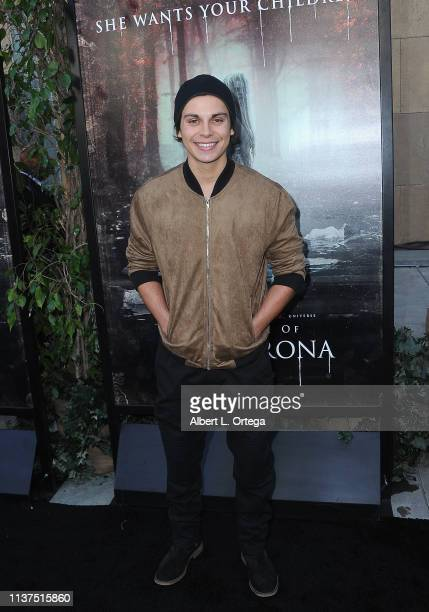 Jake T Austin arrives for the Premiere Of Warner Bros' The Curse Of La Llorona held at the Egyptian Theatre on April 15 2019 in Hollywood California