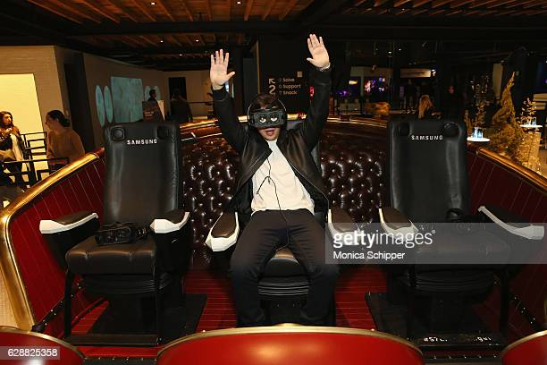 Jake T Austin rides Santa's Epic Sleigh Ride at Tinashe LIVE Z100 Jingle Ball Viewing Party at Samsung 837 on December 9 2016 in New York City