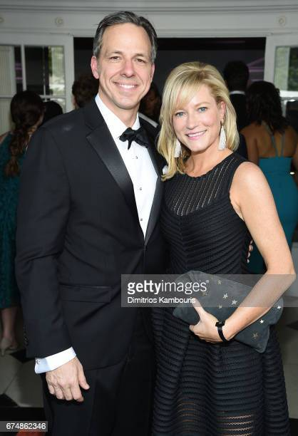 Jake Tapper and Jennifer Tapper attend Full Frontal With Samantha Bee's Not The White House Correspondents' Dinner at DAR Constitution Hall on April...