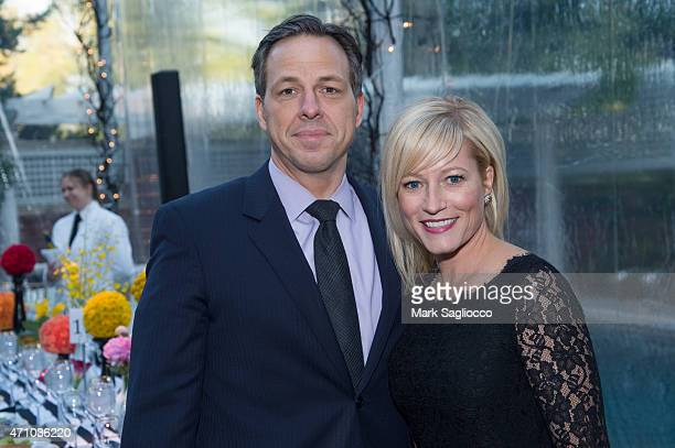 Jake Tapper and Jennifer Tapper attend the Atlantic Private Dinner on April 24 2015 in Washington DC