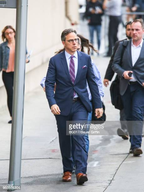 Jake Tapper is seen arriving at 'Jimmy Kimmel Live' on April 30 2018 in Los Angeles California