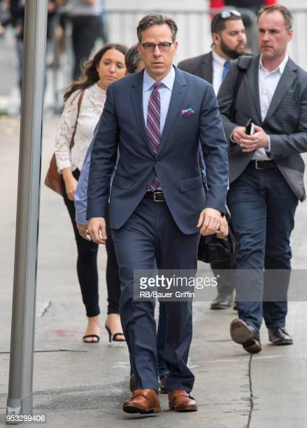 Jake Tapper is seen at 'Jimmy Kimmel Live' on April 30 2018 in Los Angeles California