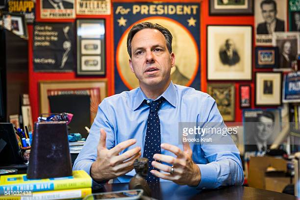 Jake Tapper is the Chief Washington Correspondent for CNN and anchor of the CNN weekday television news show The Lead May 16 2016 in Washington DC...