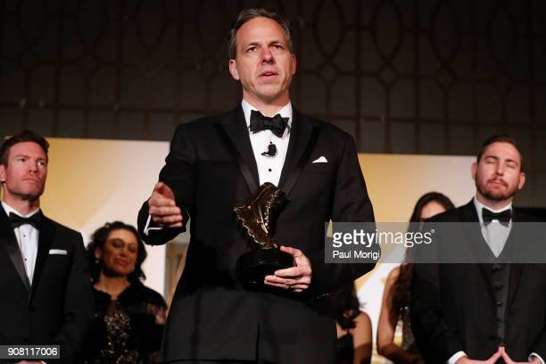 Jake Tapper receives a People's Choice Vetty during the 3rd Annual Vetty Awards at The Mayflower Hotel on January 20 2018 in Washington DC