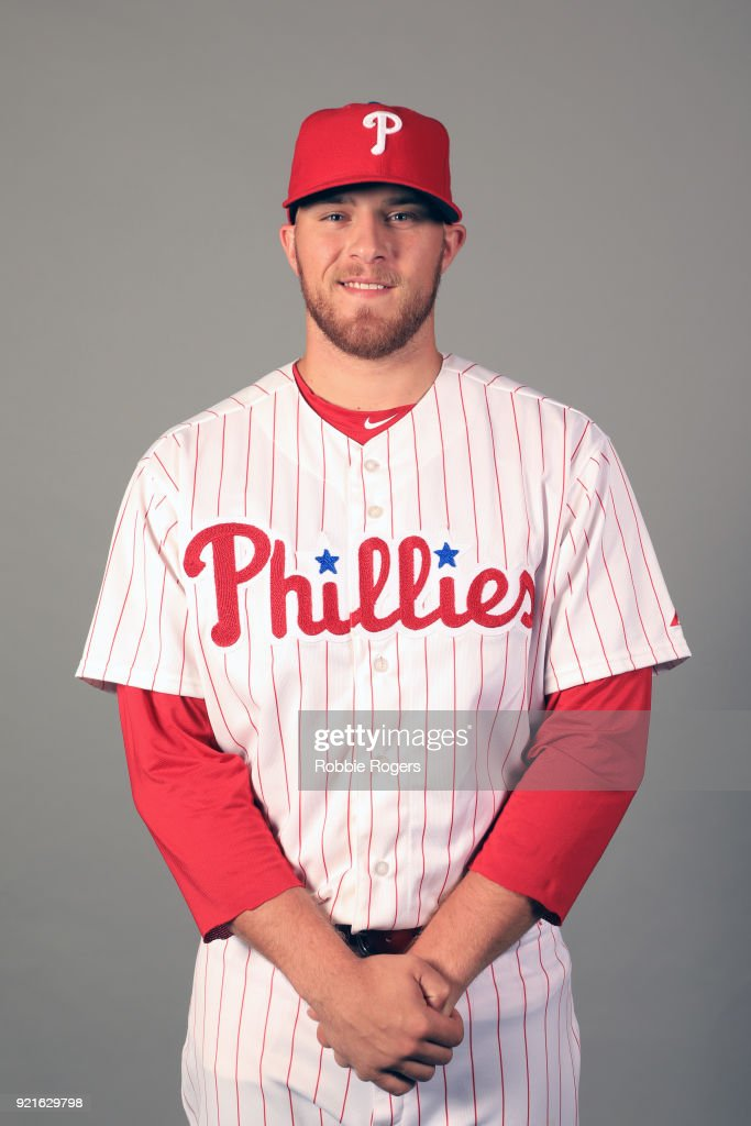 Jake Thompson #44 of the Philadelphia Phillies poses during Photo Day on Tuesday, February 20, 2018 at Spectrum Field in Clearwater, Florida.