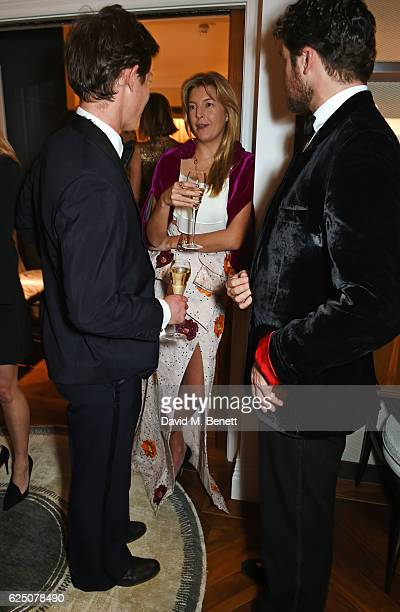 Jake Thomson Caroline Rupert and Hickman Bacon attend a VIP dinner to celebrate The Animal Ball 2016 presented by Elephant Family at The Arts Club on...