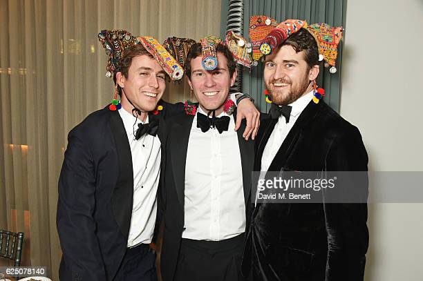 Jake Thomson Jack Brooksbank and Hickman Bacon attend a VIP dinner to celebrate The Animal Ball 2016 presented by Elephant Family at The Arts Club on...