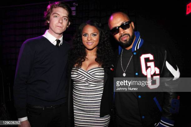 Jake Troth, Marsha Ambrosius and Kenny Burns attend GREY GOOSE Entertainment presents RISING ICONS Launch Event at Hudson Hotel on October 10, 2011...