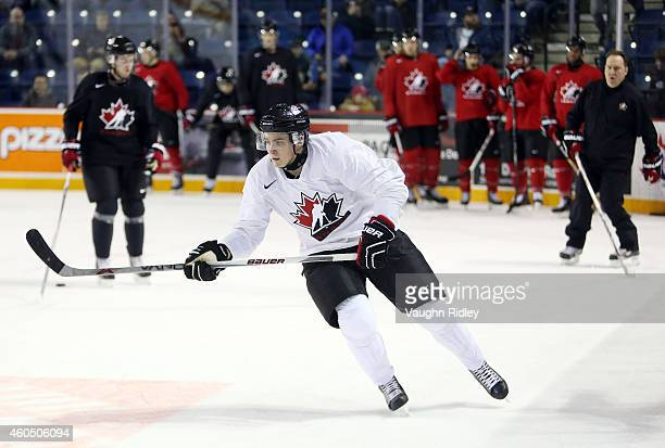 Jake Virtanen skates during the Canada National Junior Team practice at the Meridian Centre on December 15 2014 in St Catharines Ontario Canada