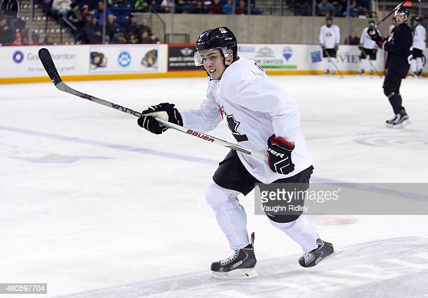 Jake Virtanen skates during the Canada National Junior Team practice at the Meridian Centre on December 17 2014 in St Catharines Ontario Canada
