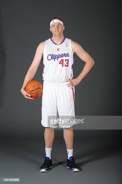 Jake Voskuhl of the Los Angeles Clippers poses for a picture during media day at the Clippers Training Center on September 27 2010 in Playa Vista...
