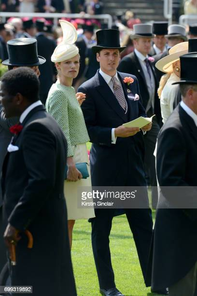 Jake Warren and his wife Zoe Warren seen in the Parade Ring on day 2 of Royal Ascot at Ascot Racecourse on June 21 2017 in Ascot England