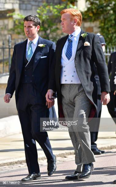 Jake Warren and Mark Dyer attend the wedding of Prince Harry to Ms Meghan Markle at St George's Chapel Windsor Castle on May 19 2018 in Windsor...