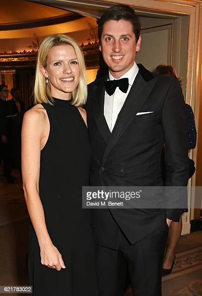 Jake Warren and Zoe Stewart attend The Cartier Racing Awards 2016 at The Dorchester on November 8 2016 in London England