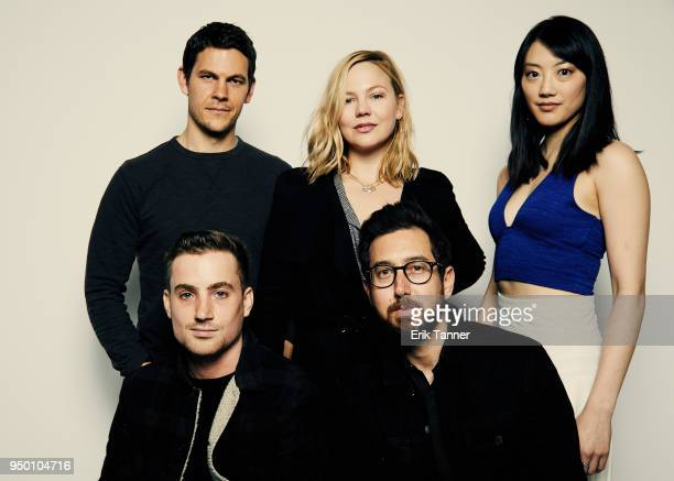 Jake Wasserman Nicolas Piesce Adelaide Clemens Adam Donald and Clara Wong of the film The Caretaker poses for a portrait during the 2018 Tribeca Film...