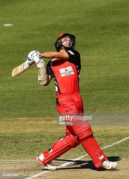 Jake Weatherald of the Redbacks bats during the Matador BBQs One Day Cup match between South Australia and Tasmania at Hurstville Oval on October 19...