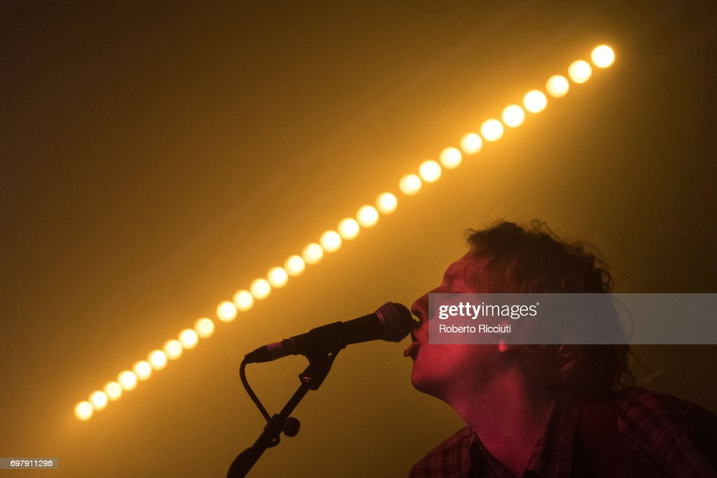 Jake Webb of Australian band Methyl Ethel performs on stage at The Art School on June 19, 2017 in Glasgow, Scotland.