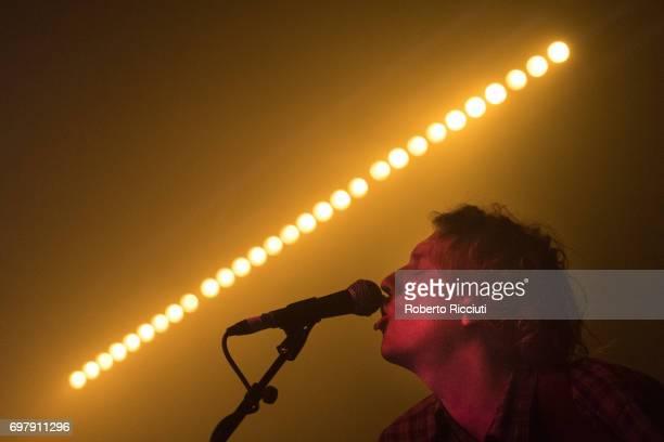 Jake Webb of Australian band Methyl Ethel performs on stage at The Art School on June 19, 2017 in Glasgow, Scotland.