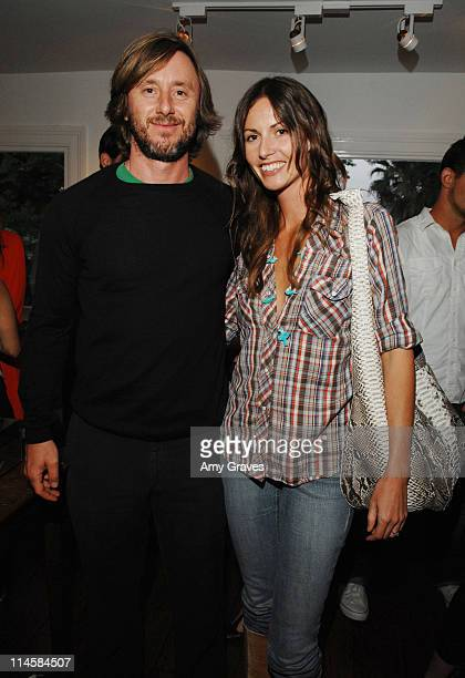 Jake Weber and Liz Carey attend the Roseark jewelry boutique opening event on June 3 2008 in West Hollywood and California