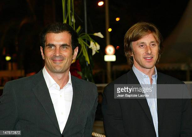 Jake Weber and Ty Burrell during 2004 Cannes Film Festival Dawn Of The Dead Premiere at Palais des Festivals in Cannes France