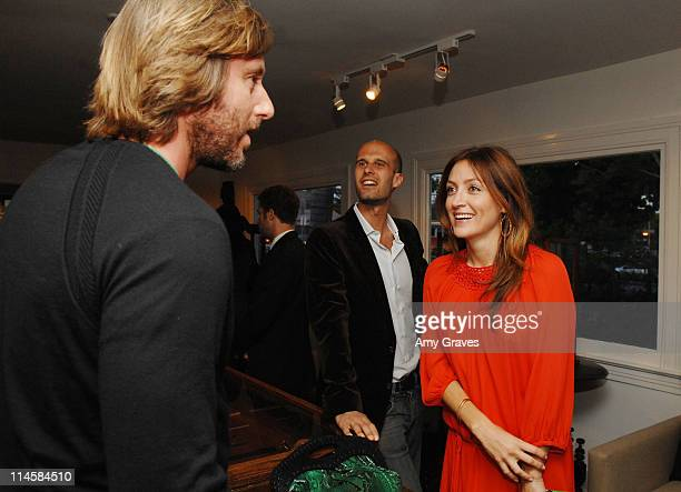 Jake Weber Eduardo Ponti and Sasha Alexander attend the Roseark jewelry boutique opening event on June 3 2008 in West Hollywood and California
