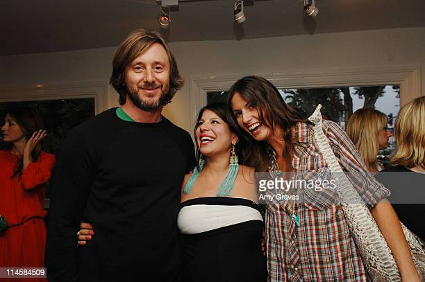 Jake Weber Kathy Azarmi Rose and Liz Carey attend the Roseark jewelry boutique opening event on June 3 2008 in West Hollywood and California