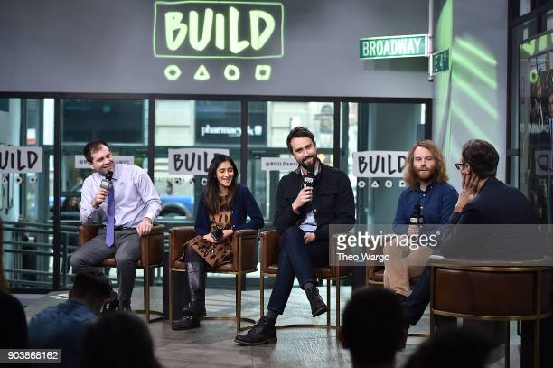 Jake Weisman Aparna Nancherla Matt Ingebretson and Pat Bishop attend Build Series to discuss the show 'Corporate' at Build Studio on January 11 2018...