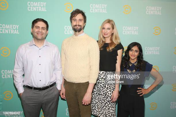 Jake Weisman Matt Ingebretson Anne Dudek and Aparna Nancherla attend the 2019 Comedy Central Press Day on January 11 2019 in Hollywood California