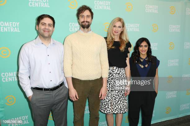 Jake Weisman Matt Ingebretson Anne Dudek and Aparna Nancherla attend the Comedy Central press day at Viacom Building on January 11 2019 in Los...