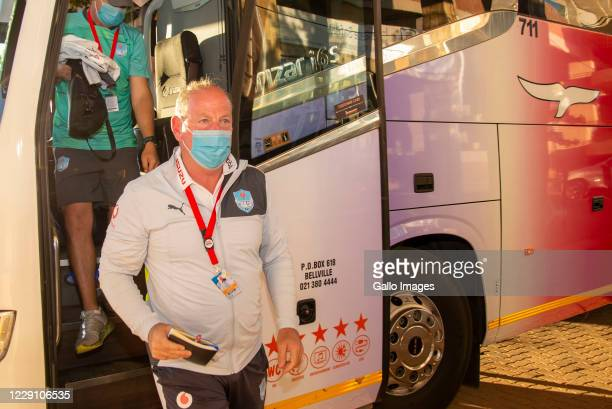 Jake White Head Coach of the Vodacom Bulls arriving at the stadium during the Super Rugby Unlocked match between the Toyota Cheetahs and Vodacom...