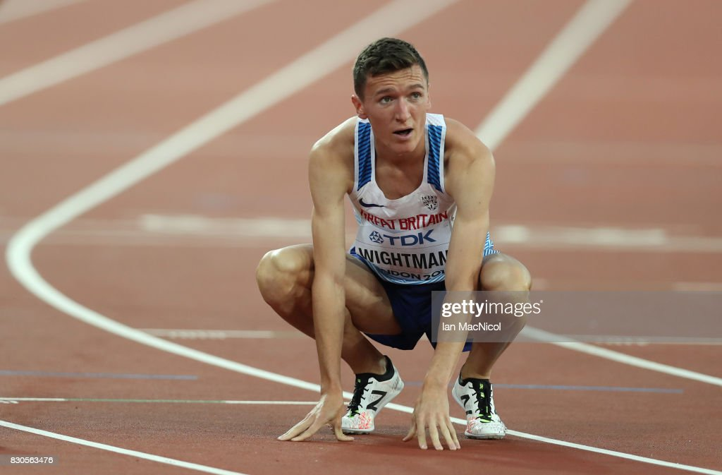 Jake Wightman of Great Britain competes in the Men's 1500m semi final during day eight of the 16th IAAF World Athletics Championships London 2017 at The London Stadium on August 11, 2017 in London, United Kingdom.