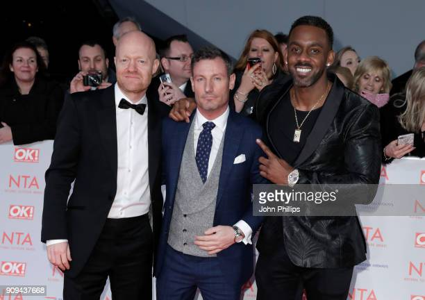 Jake Wood Dean Gaffney and Richard Blackwood attend the National Television Awards 2018 at the O2 Arena on January 23 2018 in London England