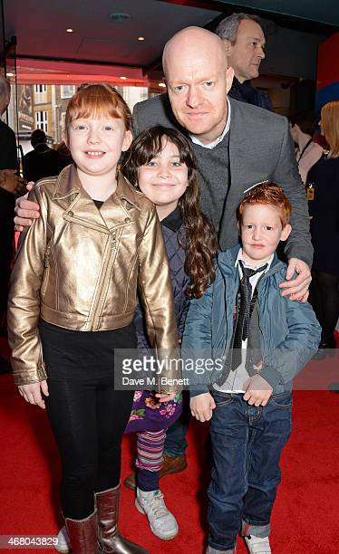 Jake Wood with children Amber Buster and guest attend a VIP screening of The Lego Movie at the Vue West End on February 9 2014 in London England