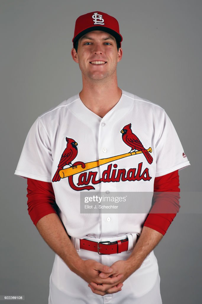 Jake Woodford #87 of the St. Louis Cardinals poses during Photo Day on Tuesday, February 20, 2018 at Roger Dean Stadium in Jupiter, Florida.