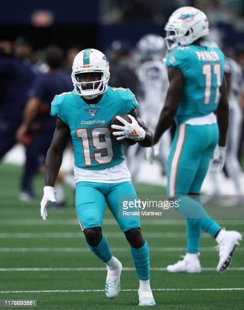Jakeem Grant of the Miami Dolphins at AT&T Stadium on September 22, 2019 in Arlington, Texas.
