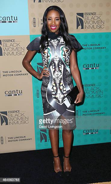 JaKissa TaylorSemple aka DJ Kiss attends Essence Magazine's 5th Annual Black Women in Music event at 1 OAK on January 22 2014 in West Hollywood...