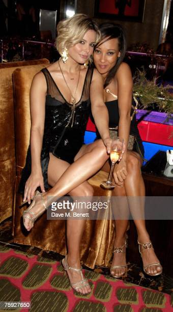 Jakki Degg and Lisa Maffia attend the launch party of the Icon VIP Room at the Empire Casino Leicester Square on August 1 2007 in London England
