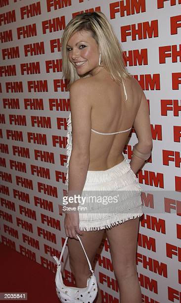 Jakki Degg arrives for the FHM 100 Sexiest Women Awards 2003 at the Aldwych Tube Station on May 28 2003 in London