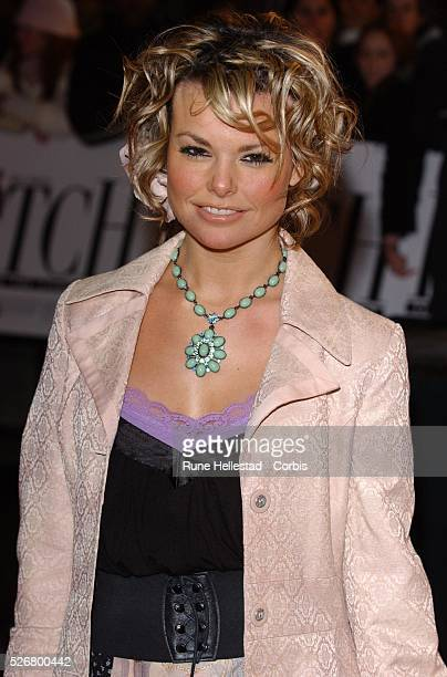Jakki Degg attends the premiere of Hitch at Odeon Leicester Square