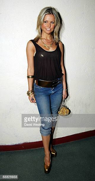 Jakki Degg attends The Rushes Soho Short Film Festival Awards Party at the cc Club on August 4 2005 in London England The event is the finale of the...