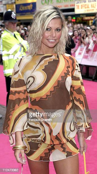 Jakki Degg during Legally Blonde 2 Red White Blonde London Premiere Arrivals at Warner Cinema Leciester Square in London Great Britain
