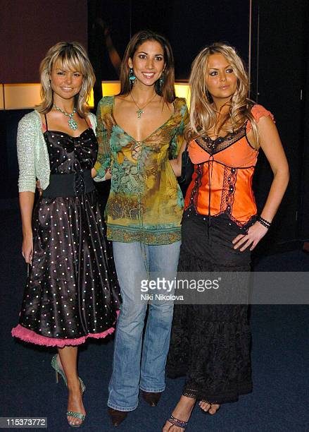 Jakki Degg Leilani Dowling and Ebony Gilbert during Hell's Kitchen 2 Day 10 Arrivals at Atlantis Building Brick Lane in London Great Britain
