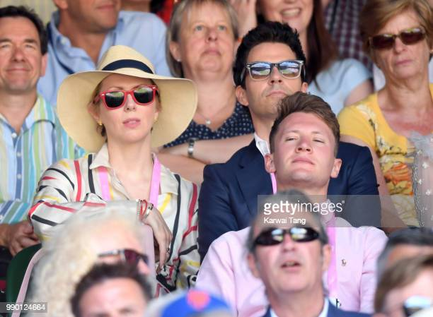 Jakki Healy and Kelly Jones attend day one of the Wimbledon Tennis Championships at the All England Lawn Tennis and Croquet Club on July 2, 2018 in...