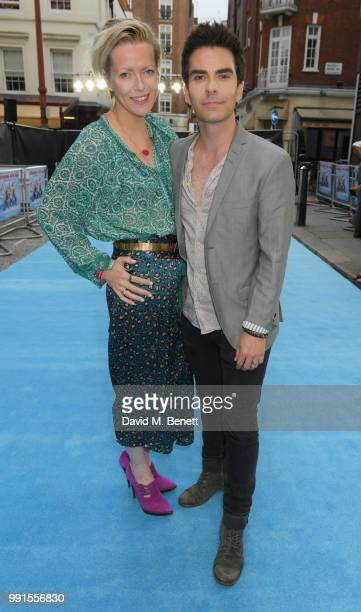 "Jakki Healy and Kelly Jones attend the UK Premiere of ""Swimming With Men' at The Curzon Mayfair on July 4, 2018 in London, England."