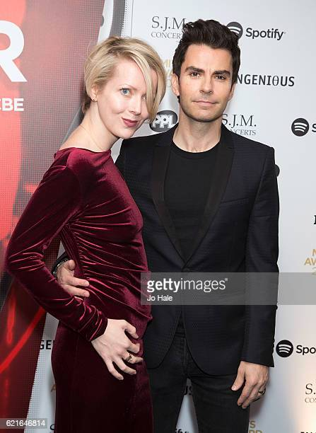 Jakki Healy and Kelly Jones Music Industry Awards at The Grosvenor House Hotel on November 7, 2016 in London, England.