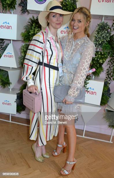 Jakki Healy and Laura Whitmore attend the evian Live Young Suite at The Championship at Wimbledon on July 2, 2018 in London, England.